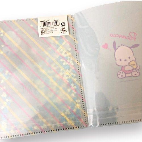 【震撼精品百貨】Pochacco_帕帢狗~Sanrio 帕恰狗亮片裝飾雙開式文件夾(B6)#36859