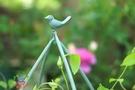 歐式葉蔓小鳥爬藤架 復古做舊鐵藝花架藍雪花鐵線蓮月季支架 夢幻小鎮