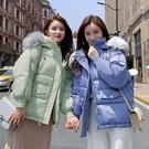 大毛領棉襖女士外套 韓版外套羽絨外套 冬季加厚上衣 短款外套夾克外套 修身顯瘦棉服女生外套