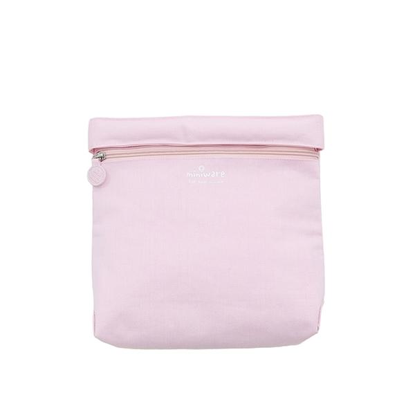 Miniware 天然寶貝兒童學習餐具 袋我走吧 旅行外出收納袋-櫻花粉