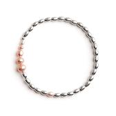 珍珠手鍊-925純銀-昔年淡水珍珠串珠女手環73yl38【時尚巴黎】