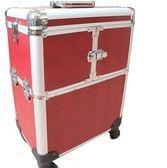 全新大號理發箱紋繡箱多層大容量化妝包專業拉桿萬向輪化妝箱