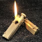 祝融火具首領手工一戰壕純黃銅煤油打火機戰甲復古收藏古董煙斗機