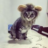 頭飾假發帽子寵物狗狗貓咪頭套 小狗貓貓獅子頭套【櫻田川島】