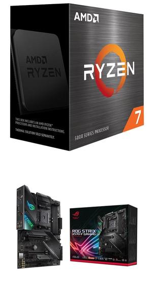【自組DIY兩件組R58】AMD R7 5800X+華碩 ROG STRIX X570-F GAMING