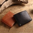【Solomon 原創設計皮件】吉來手工牛皮零錢短夾 卡夾可拆 有零錢袋男用錢包
