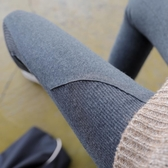 網紅春秋款螺紋灰色純棉打底褲女外穿薄款秋冬季九分長褲內穿衛生褲 喵小姐