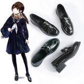 小皮鞋 ins小皮鞋女學生韓版百搭軟妹新款秋季復古漆皮英倫黑色單鞋 卡菲婭