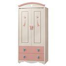 【森可家居】 貝妮斯3尺衣櫥 8CM632-1 粉紅 兒童 衣櫃 童話城堡風