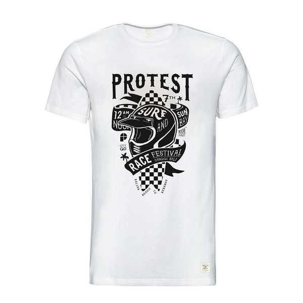 PROTEST 男 短袖T恤 (貝殼白) FESTIVAL T-SHIRT