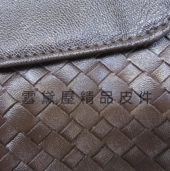 ~雪黛屋~MODO 手拿肩斜包小容量進口專櫃編織紋防水防刮皮革+棉質內裡手拿肩背斜背B136JJ001-1