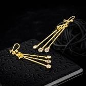 耳環 純銀鍍18K金鑲鑽-別緻流行生日情人節禮物女飾品73cx48【時尚巴黎】