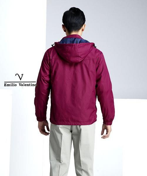 【Emilio Valentino】防風抗曬機能運動薄外套 - 紫紅