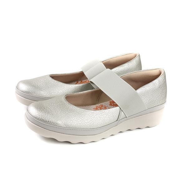 Moonstar Tatto 休閒鞋 娃娃鞋 銀色 厚底 女鞋 TA043 no293
