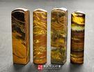促銷南非黃鐵虎石臍帶肚臍印章《全手工噴砂》六分,正常高度,單章。簡配卡。傳家手工印章