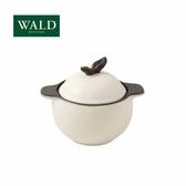 義大利WALD陶鍋系列-蘋果造型小鍋(粉白-有原裝彩盒)