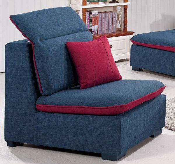 【森可家居】凱爾沙發單人椅 8CM696-3  一人座位 布 可拆洗