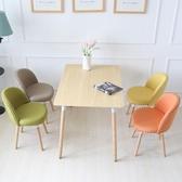 實木餐椅咖啡椅子靠背書桌凳簡約現代電腦學習椅成人北歐家用創意wy 【中秋節預熱】