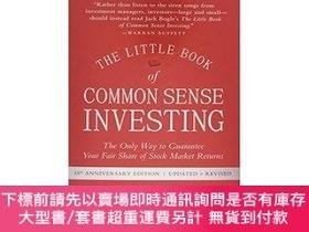 二手書博民逛書店常識投資手冊罕見The Little Book Of Common Sense Investing, Update