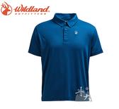 丹大戶外【Wildand】荒野 男彈性POLO吸排抗UV條紋衣 0A71660-72深藍色
