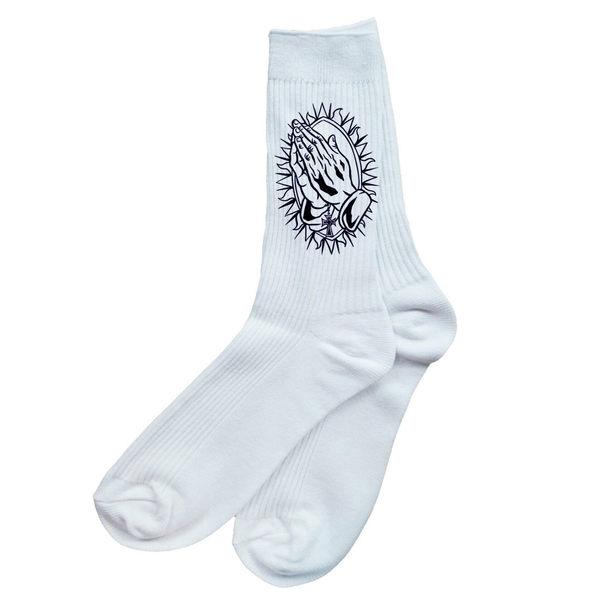 Praying Hand襪-白色G-DRAGON 頑童MJ 刺青tattoo fixed gear滑板街頭潮流塗鴉單速車