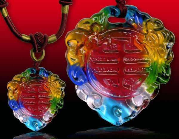 鹿港窯~居家開運水晶琉璃項鍊~富貴雙全 附精美包裝 ◆免運費送到家