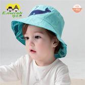 寶寶帽子春夏男童薄款寶寶遮陽帽嬰兒帽子純棉雙面戴兒童帽       檸檬衣舍