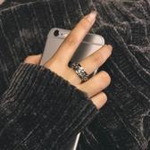 泰國百搭中性風轉動旋轉錬條紋理男女情侶戒指戒指指環尾戒不褪色 【快速出貨】