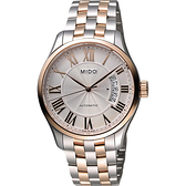 MIDO 美度 Belluna II Gent 羅馬機械手錶-銀x雙色版/40mm M0244072203300