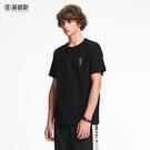 夏季男士短袖T恤潮流創意印花圓領純棉休閒半袖