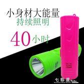 充電鋰電迷你家用小手電筒 紫光燈驗鈔超亮強光老人兒童便攜     檸檬衣舍