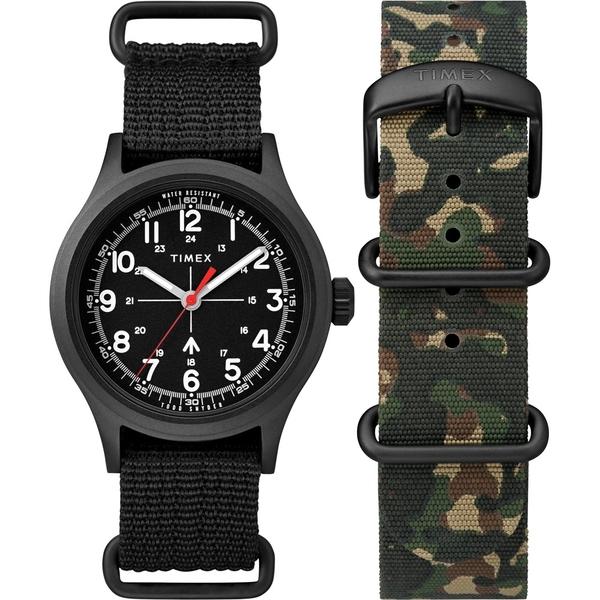 【TIMEX】天美時xTODD SNYDER聯名限量MILITARY 復古軍用腕錶組(黑TXTWG017600)