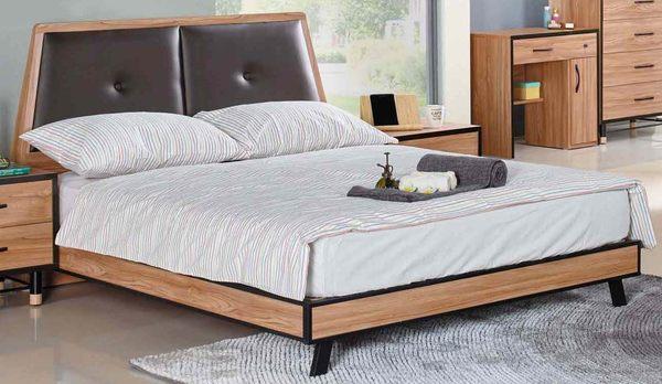 【森可家居】洛特6尺床台(不含床墊) 7JX15-2 雙人床 木紋質感 北歐工業風 MIT