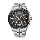 CITIZEN 星辰(AT9095-50E)光動能防水 鈦金屬 電波 三眼計時 男錶