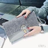 2019春夏新款斜挎手包韓版個性時尚百搭氣質手拿包女 aj8152『紅袖伊人』