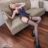 吊襪帶 浪漫紫蕾絲馬甲四件組《Life Beauty》