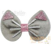 Cutie Bella貓咪全包布手工髮夾-Cat Ear-Gray