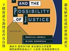 二手書博民逛書店Deconstruction罕見And The Possibility Of JusticeY256260 C