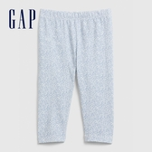 Gap女嬰童趣風格印花鬆緊腰休閒褲580456-藍底印花