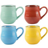 《CreativeTops》Cafetiere線紋圓肚濃縮咖啡杯4入(150ml)