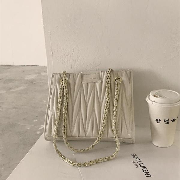 大容量包包女新款潮網紅韓版菱格鍊條包高級感包包百搭托特包