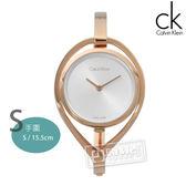 CK AMAZE / K6L2S616 / 復刻婉約亮眼手環式不鏽鋼手錶 銀x鍍玫瑰金 32mm