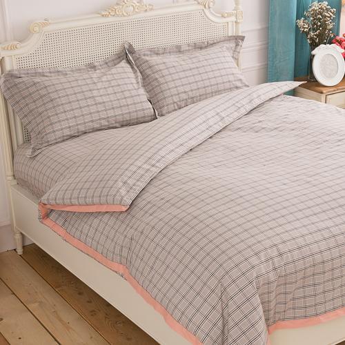 【Jenny Silk名床】優雅哥特.100%純棉色織布 .雙人兩用鋪棉被套