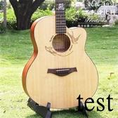 吉他玫瑰木吉他40寸41寸電箱民謠初學者演奏級吉他 萬客城
