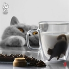 九土簡約家用玻璃杯女網紅雙層隔熱水杯咖啡...