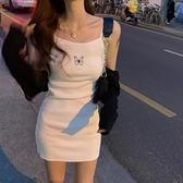蝴蝶吊帶短裙女收腰氣質性感包臀裙子夏季2020新款法式緊身洋裝 【ifashion·全店免運】