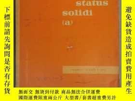 二手書博民逛書店physica罕見status solidi (a) volume 6 number 1 1971 (P2531)