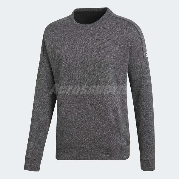 adidas 大學T ID Stadium Crewneck Sweatshirt 深灰 長T 前方口袋 男款 【ACS】 CG2098