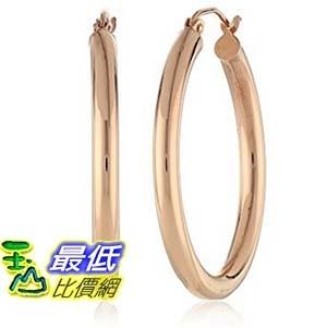 [美國直購] 14k Rose Gold 3mm Tube Hoop Earrings (.75 Diameter) 耳環