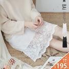 襯裙 花朵網蕾絲拼接棉質無袖背心洋裝-BAi白媽媽【191071】